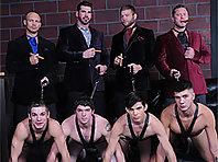 8 gay men orgy